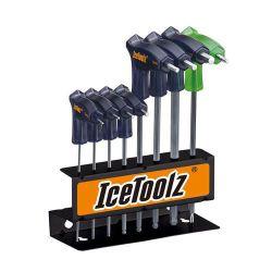 IceToolz inbussleutelset Twinhead 7M85, 8-delig